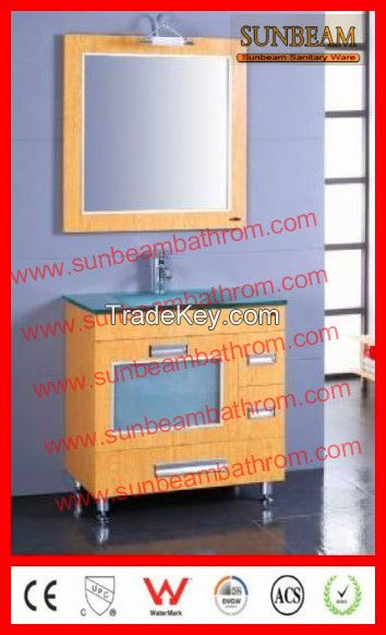 MDF with melamine MFC floor mounted bathroom vanity/bathroom cabinet/bathroom furniture