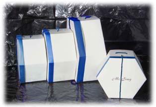 Hexagon Hat Boxes 17' 14' 12' 10'