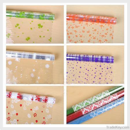 Plastic packing sheet for gift/flower, printed OPP film