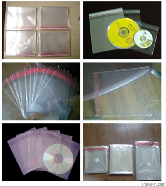Plstic CD bag with self adhesive sealed
