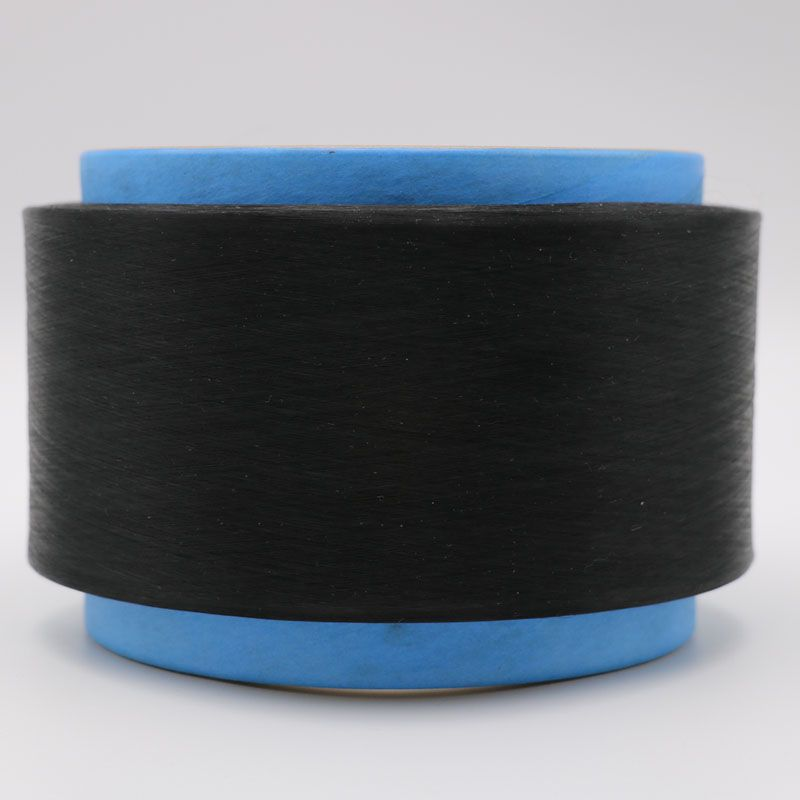 black conductive carbon inside nylon fiber filaments 20D/3F ring cross section for Anti-Static yarn/ESD fabrics/garment-XTAA016