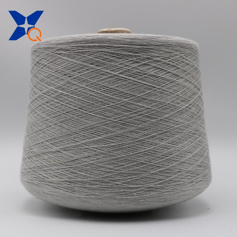 natural grey yarn Ne21/2ply -20% stainless steel staple fiber  blended with 80% polyester fiber anti EMI RFI fabrics-XT11752