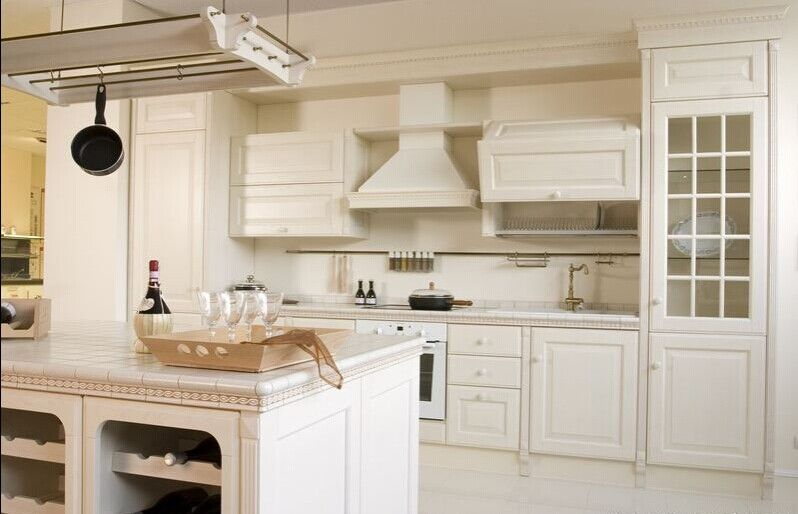 Standard American wood kitchen cabinets