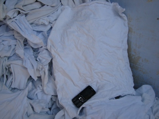 White Bleached Wipping Rag