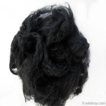Nylon fiber dyed black