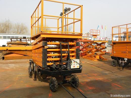 Mobile scissor lift platform