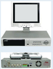 DVR with monitor