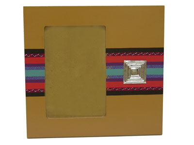 Hand painted Picture frames with sterling silver application