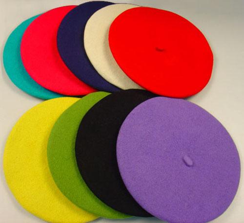 100% WOOL CLASSIC BERET, CLASSIC FASHION HAT, CAP