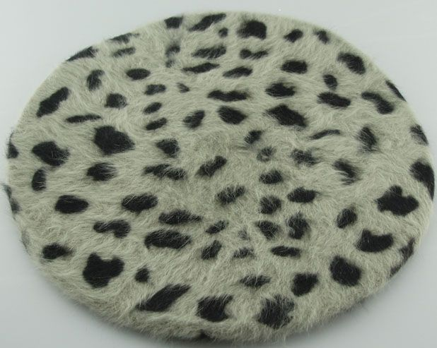 Angora (rabbit hair) berets, solid colors and with various printing and decoration