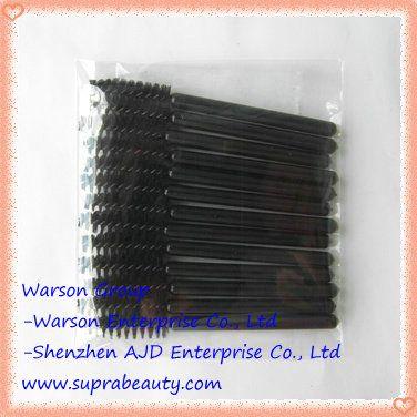 Plastic disposable mascara wands