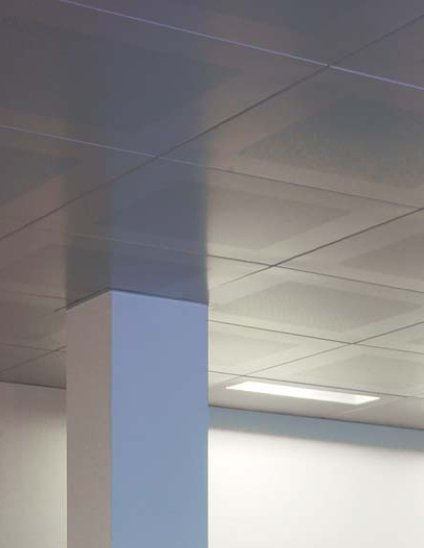 Clip in metal false ceilings