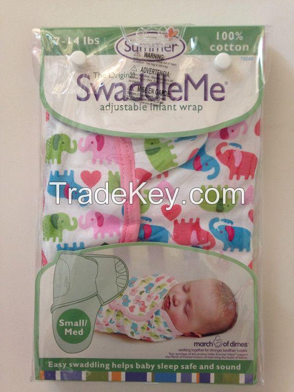 100% Organic Cotton Summer newborn swaddleme baby parisarc baby swaddle wrap blanket