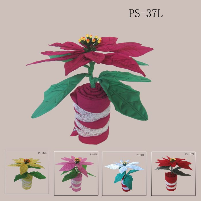 Christmas flowers, Christmas gift, decoration, artificial crafts, cotton