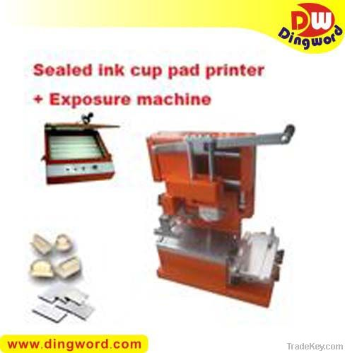 Sealed Ink Cup Pad Printer +cliche making package