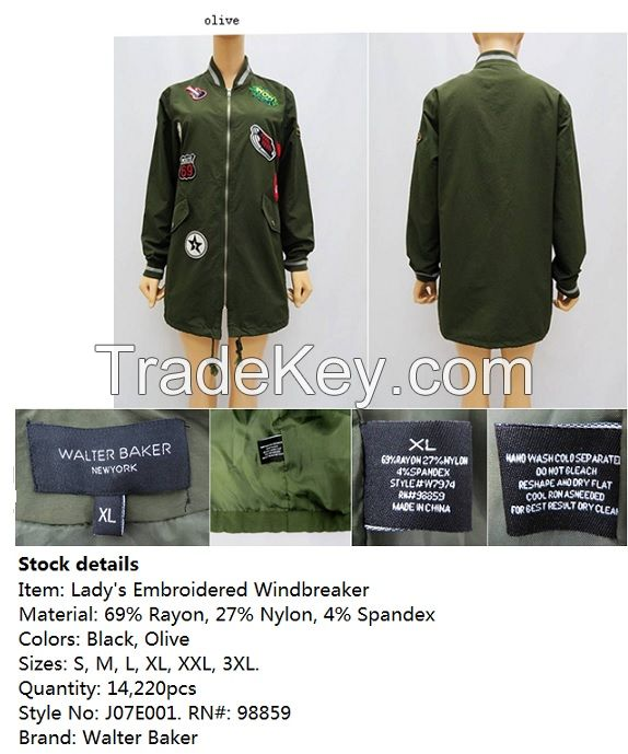 Lady/s Embroidered Windbreaker