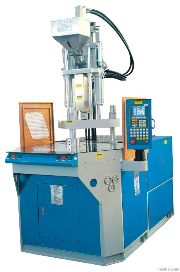 Rotary table injectio molding machine