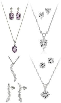 Silver Jewelry Necklace Sets (925 Sterling)