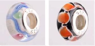 Glass Beads (925 Sterling Silver)