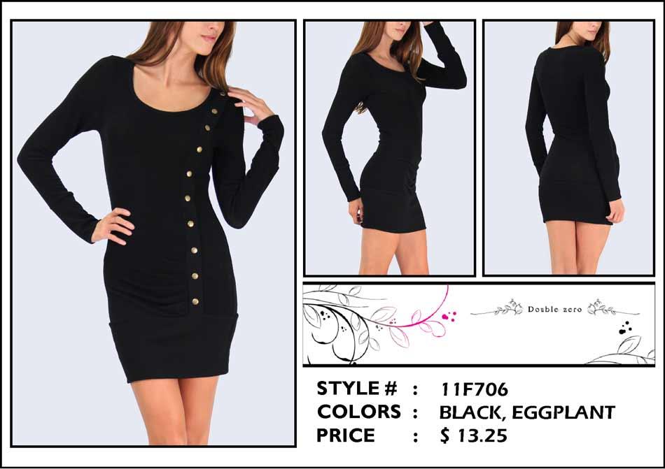 Longsleeve Scoop Neck Dress