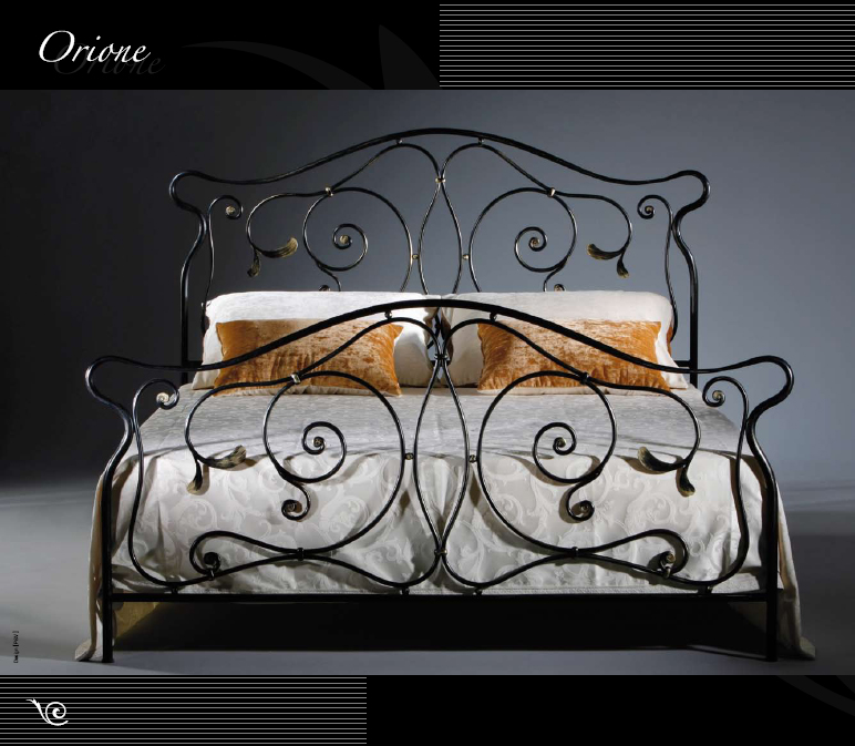 Wrought Iron Bed Orione