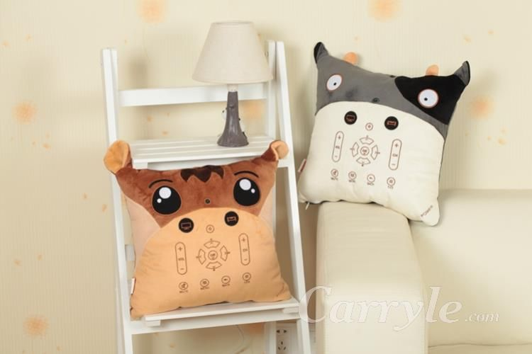 Carryle Pillow remote control cartoon horse pillow stuffed animals staff toys plush toys