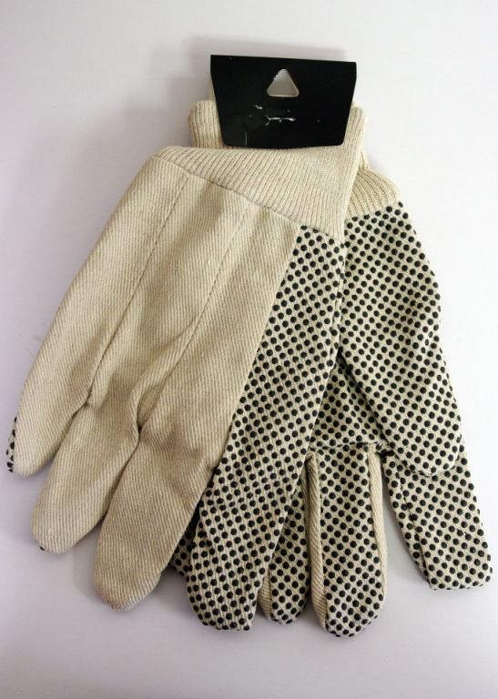 COTTON CANVAS WITH DOT WORKING GLOVE