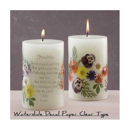 Candle decals/water slide declas for candles
