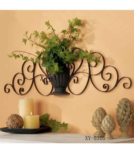 Home Decor Metal Wall Decor Iron Plant Holder Iron Wall Holder