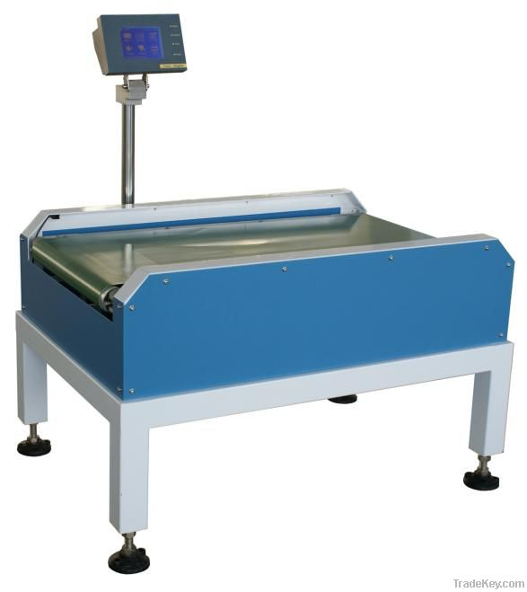 Heavy duty check weigher for big pack and weight products