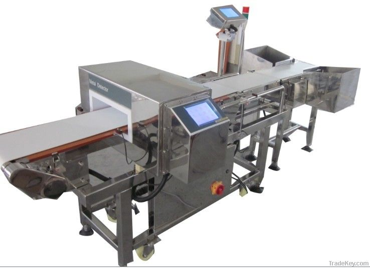 Metal Detector and Check Weigher combination machine