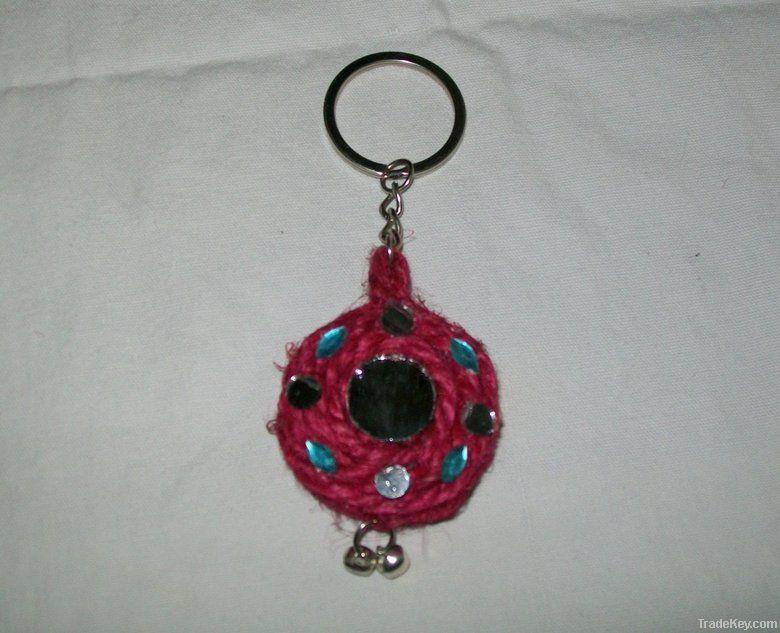 Handmade Jute Keychain