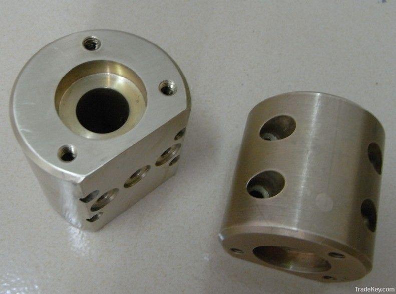 CNC milling Brass Block