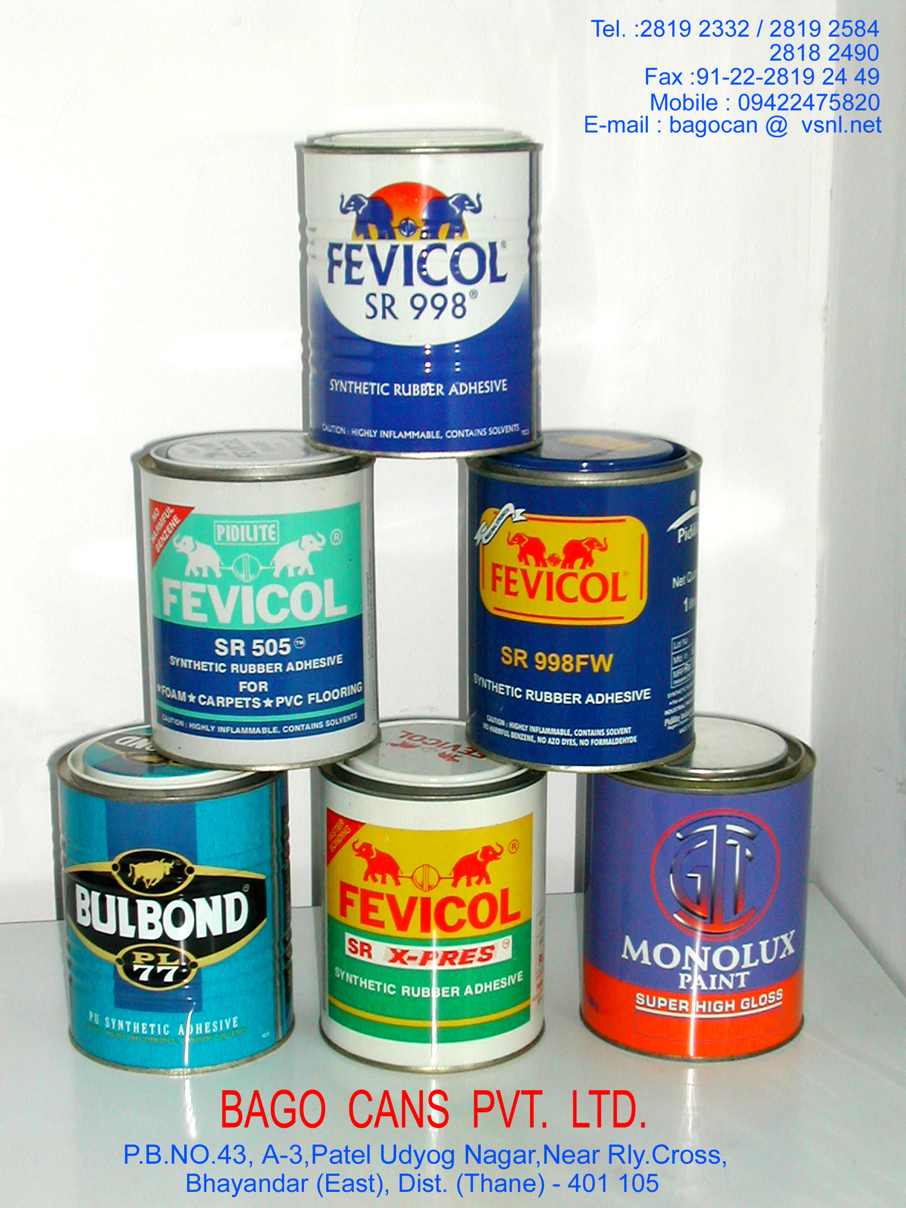 Tin Cans (Round/Rectangular)