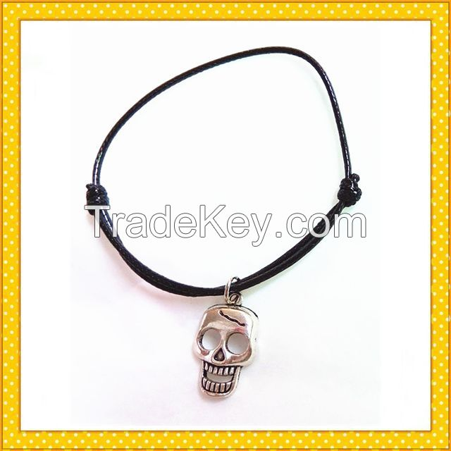 2016 skull pendent handmade bracelet