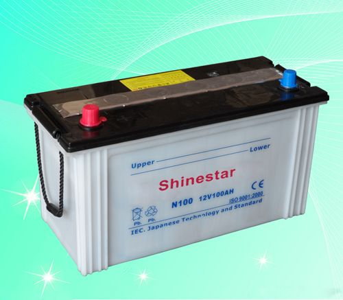 N100 12V100AH Dry Charged Battery