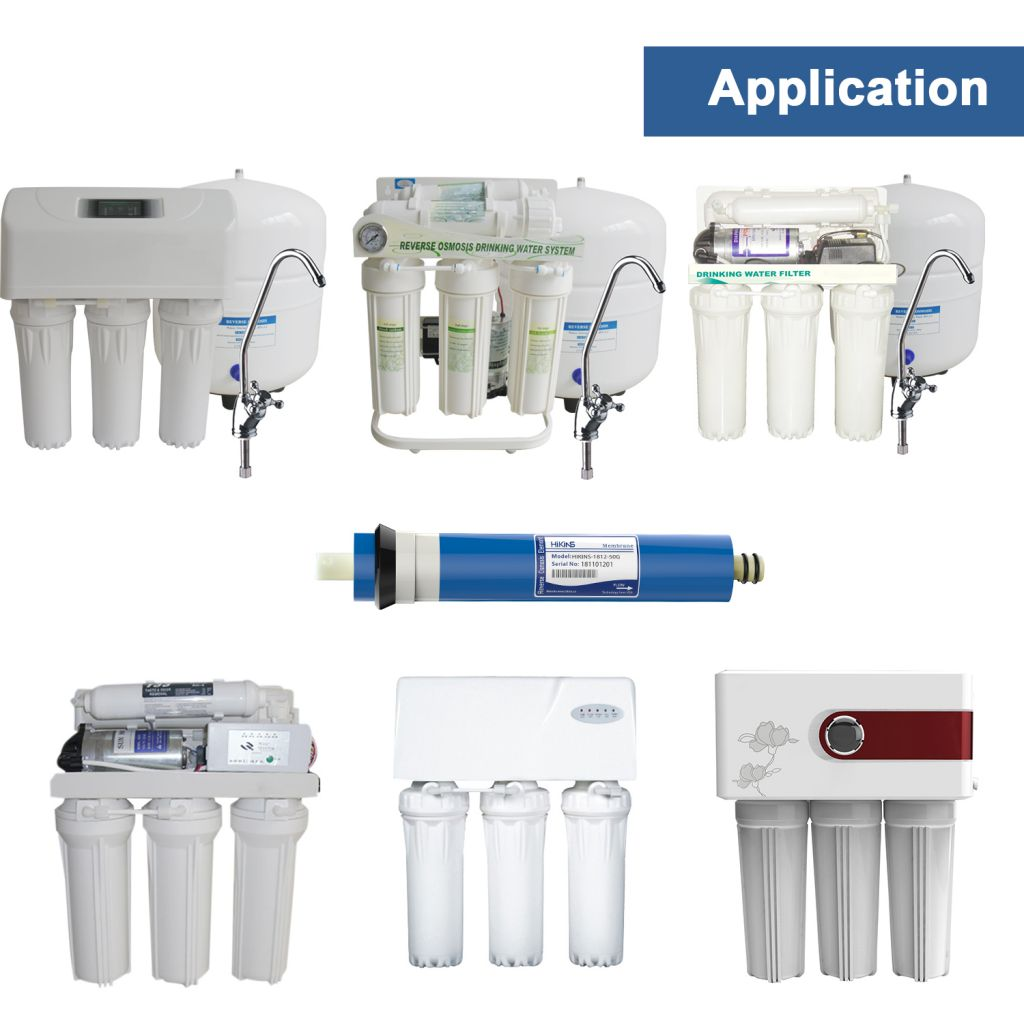 HiKiNS Universal Reverse Osmosis Membrane for 5-stage Home Drinking RO Water Filtration System