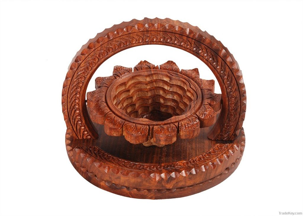 Buy Pakistani Wooden Basket Online From Artistic Royal Touch At