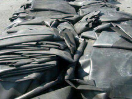 Post-Consumer EPDM Rubber Sheets