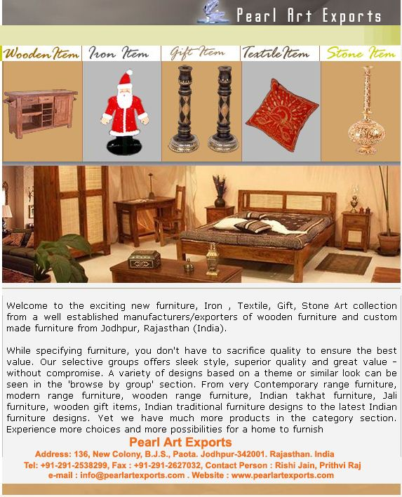 Furniture, Gift Articles