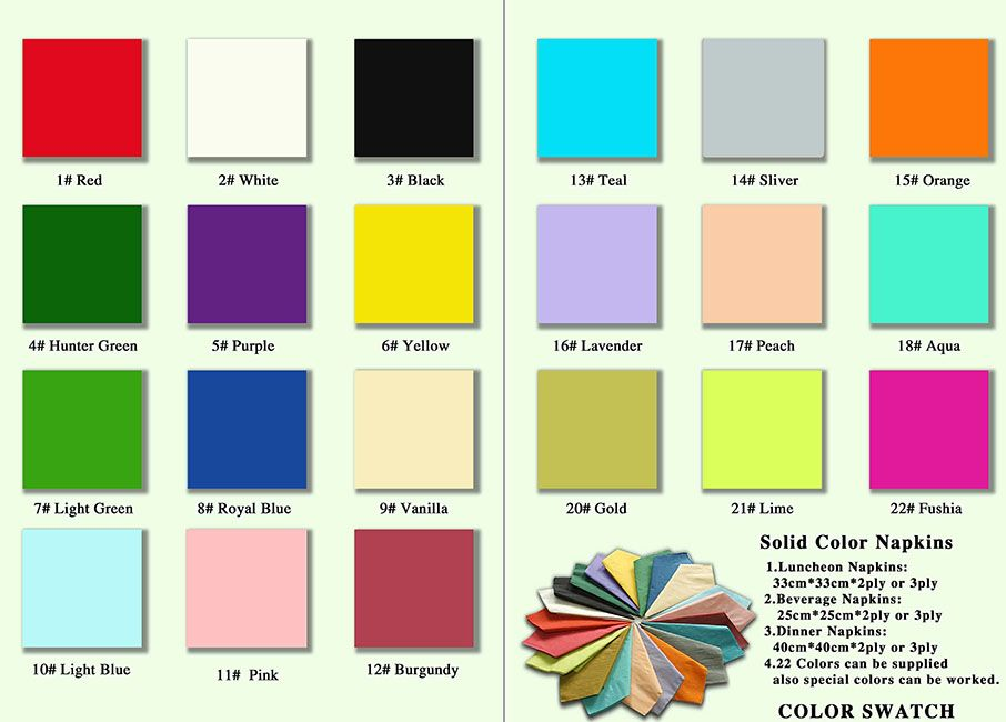 single color disposable paper napkin