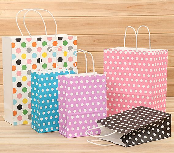 attractive printed paper shopping bag