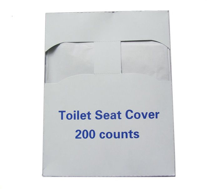 Disposable soft toilet seat cover paper