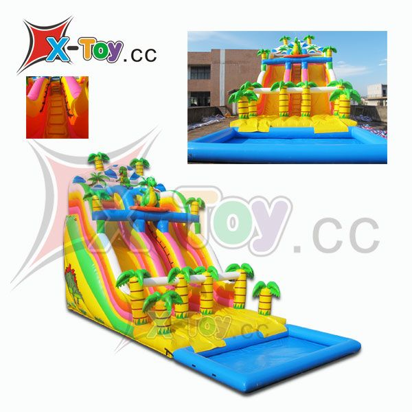 Inflatable Dragon Water Slide with the Pool (CH-IS2014)