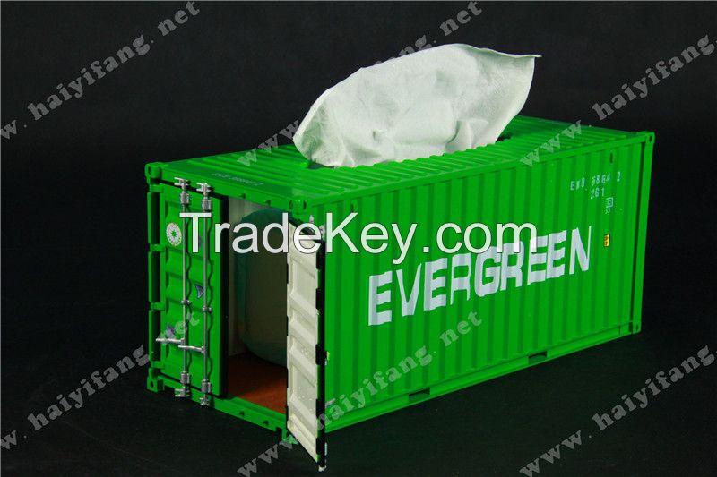 Tissue box Napkin box like Shipping Container Model /EMC model