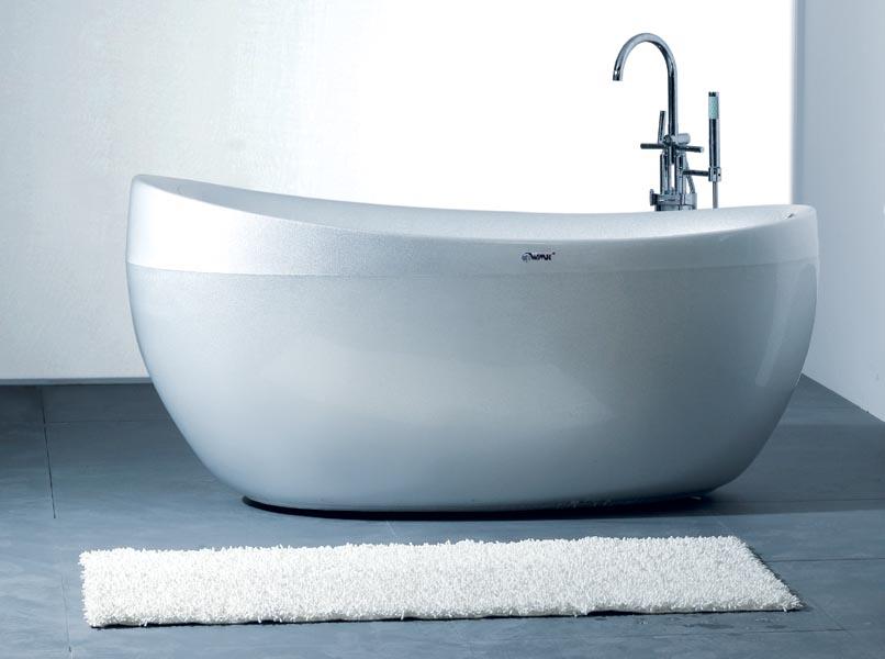 Pearl acrylic whirlpool bathtub (B01)