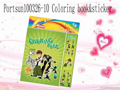 colouring book with sticker