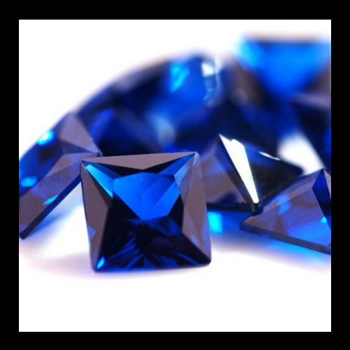 Wholesale Synthetic Blue Sapphire #34 Square shape Corundum Loose Gems Stones