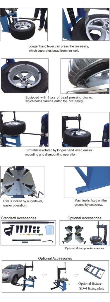 XTC428 Manual tire changer