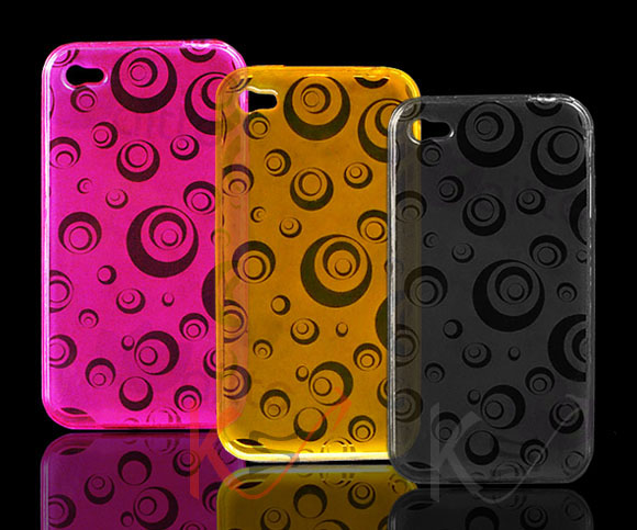 Round Series gel case for iPhone4G